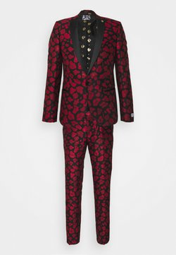 Twisted Tailor - FOSSA SUIT SET - Anzug - black red