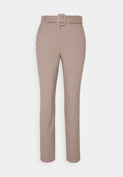 Esprit Collection - CHECK PANT - Stoffhose - toffee
