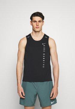Nike Performance - MILER TANK HYBRD - Linne - black/reflective silver