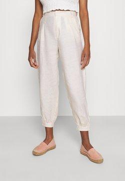 NA-KD - BALLOON LEG PANTS - Trousers - light beige