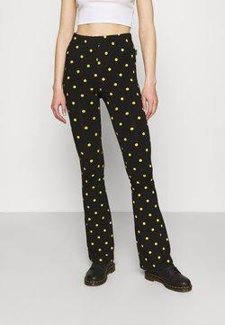 Colourful Rebel - DOTS BASIC FLARE PANTS WOMEN - Leggings - Hosen - black
