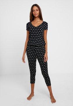 LASCANA - PÜNKTCHEN - Pyjama - schwarz/weiß