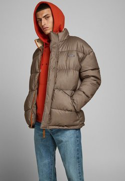 Jack & Jones - JORFRANK PUFFER JACKET - Winterjacke - brown stone