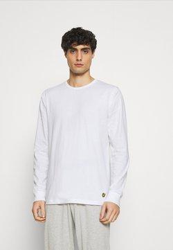 Lyle & Scott - STANLEY SET - Pyjama - bright white/grey