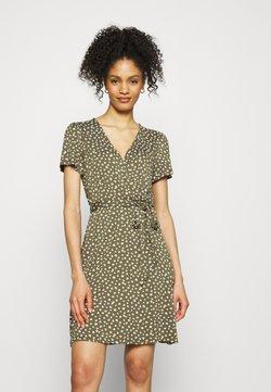 GAP - WRAP DRESS - Jerseykjole - green