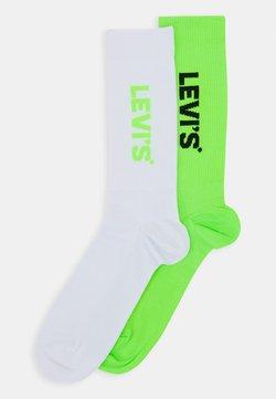 Levi's® - REGULAR CUT SPORT 2 PACK - Socken - neon green