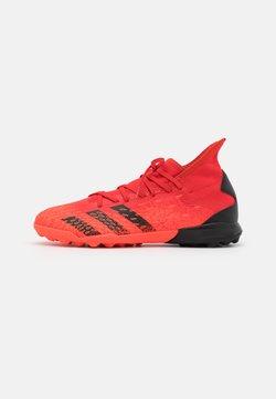 adidas Performance - PREDATOR FREAK .3 TF - Botas de fútbol multitacos - red/core black/solar red
