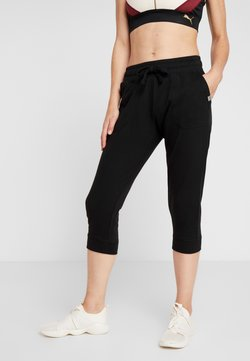 Cotton On Body - CROPPED GYM TRACKPANT - Pantalón 3/4 de deporte - black