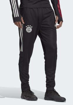 adidas Performance - FC BAYERN TRAINING TRACKSUIT BOTTOMS - Klubtrøjer - black