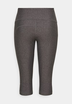 Under Armour - HIGH RISE CAPRI - 3/4 Sporthose - charcoal light heather