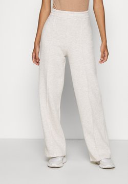 Nly by Nelly - STRAIGHT COZY PANTS - Jogginghose - beige mélange