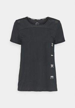 Nike Performance - RUN MILER  - T-Shirt print - black/particle grey/silver