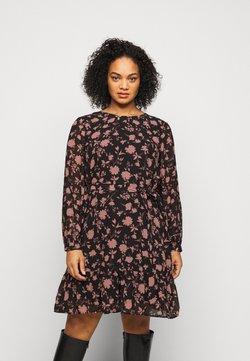 Vero Moda Curve - VMICY SHORT DRESS - Freizeitkleid - black/icy