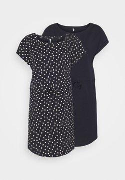 ONLY Petite - ONLMAY LIFE DRESS 2 PACK - Jerseykleid - night sky/ecru
