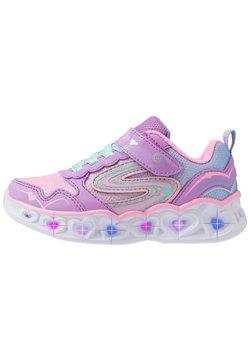 Skechers - HEART LIGHTS - Sneaker low - lavender/multicolor