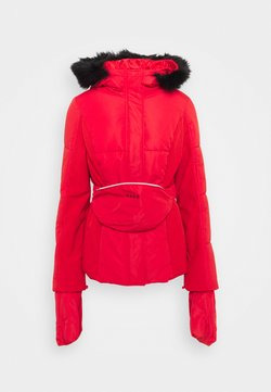Missguided - SKI JACKET WITH MITTENS AND BUMBAG  - Winterjacke - red
