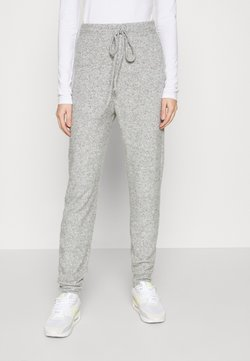 ONLY - ONLFANDY LOUNGE PANTS - Jogginghose - light grey melange