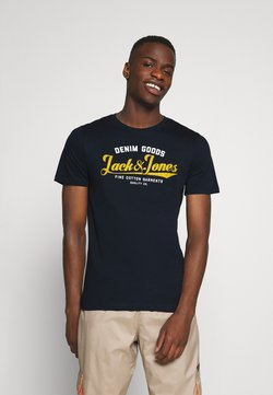 Jack & Jones - JJELOGO TEE - T-shirt imprimé - navy blazer