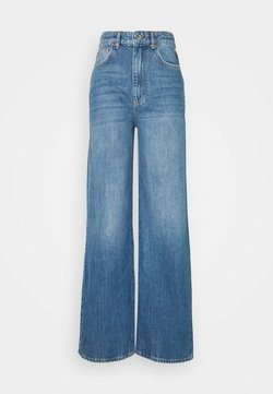 Gina Tricot - IDUN WIDE - Relaxed fit jeans - dark blue