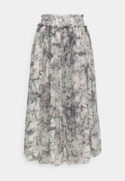 Needle & Thread - TOILE DE JOUY DELPHINE SMOCKED SKIRT EXCLUSIVE - A-line skirt - graphite/champagne