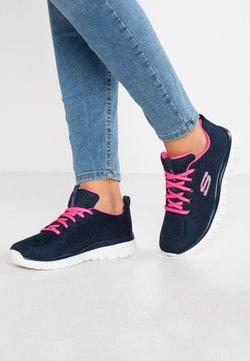 Skechers Sport - GRACEFUL - Sneakers laag - navy/hot pink