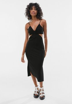 Bershka - WITH CUT-OUT SIDES - Korte jurk - black