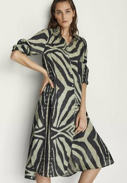Massimo Dutti - Sukienka koszulowa - khaki