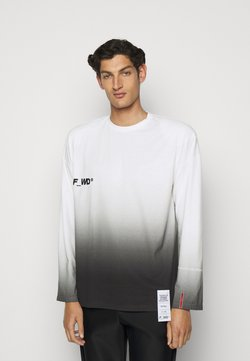 F_WD - Print T-shirt - white/black
