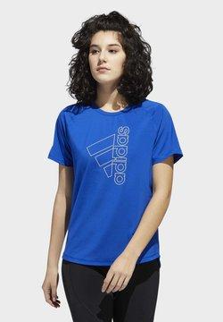 adidas Performance - BADGE OF SPORT T-SHIRT - Camiseta estampada - blue