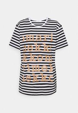 Marimekko - KIOSKI LYHYTHIHA LOGO PLACEMENT - T-Shirt print - white/black/beige
