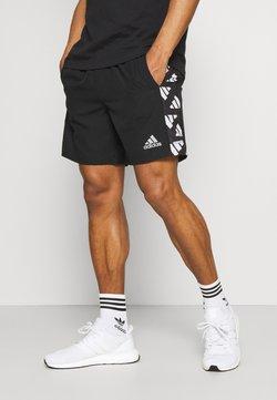adidas Performance - CELEB SHORT - Pantalón corto de deporte - black/white