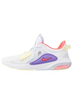 Nike Sportswear - JOYRIDE  - Trainers - white/bright crimson/atomic violet/pale vanilla/luminous green
