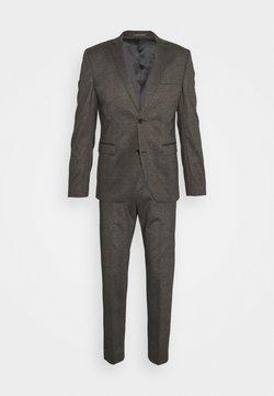 Esprit Collection - COMFORTCHECK - Anzug - dark brown
