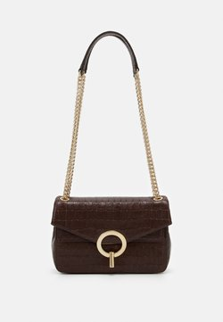 sandro - CROCO CHAIN SHOULDER BAG - Torebka - marron