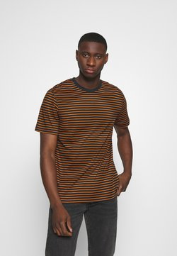Only & Sons - ONSMICK LIFE STRIPE TEE - Print T-shirt - black