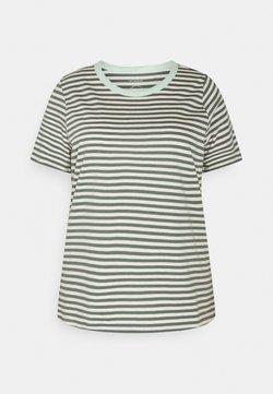 MY TRUE ME TOM TAILOR - T-Shirt print - jasper green/white