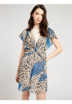 Guess - LANA DRESS - Freizeitkleid - mehrfarbig, grundton blau