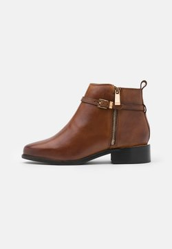 Dune London WIDE FIT - WIDE FIT POP - Boots à talons - tan