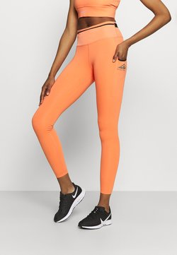 Nike Performance - EPIC LUXE TRAIL - Tights - magic ember/black/reflective silver