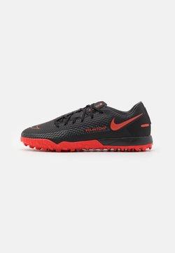 Nike Performance - PHANTOM ACADEMY TF - Fotballsko for kunstgress - black/chile red/dark smoke grey