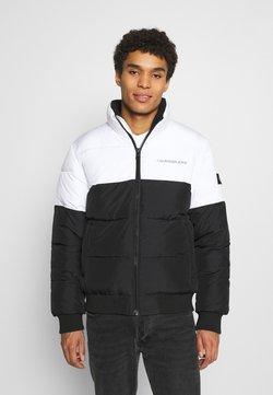 Calvin Klein Jeans - COLORBLOCK PUFFER - Winterjacke - bright white/black