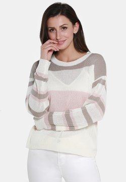 usha - Strickpullover - beige/pink/taupe