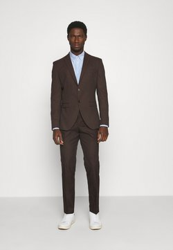 Selected Homme - SLHSLIM MYLOLOGAN SUIT - Anzug - coffee bean