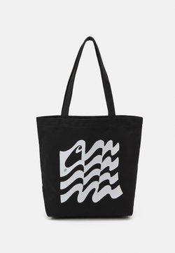 Carhartt WIP - WAVY STATE TOTE UNISEX - Shoppingväska - black/white