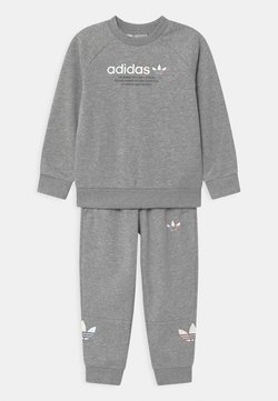 adidas Originals - CREW SET UNISEX - Survêtement - medium grey heather