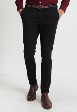 Selected Homme - SLHSLIM JAMERSON PANTS - Chinot - black