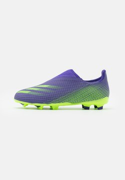 adidas Performance - X GHOSTED.3 FOOTBALL BOOTS FIRM GROUND UNISEX - Fußballschuh Nocken - energy ink/signal green