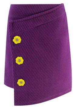 Evika Kids - WITH FLOWERS - Jupe portefeuille - purple