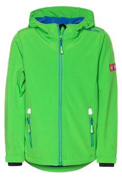 TrollKids - TROLLFJORD UNISEX - Veste softshell - bright green/med blue