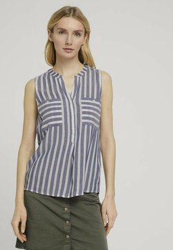 TOM TAILOR - Bluse - offwhite blue stripe